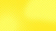 Modern yellow pop art background with halftone dots desing in comic style, vector illustration eps10
