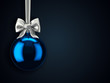 canvas print picture - 3D Rendering Christmas ball on a dark background