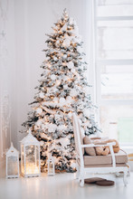 Christmas Tree With Gifts And Decorations