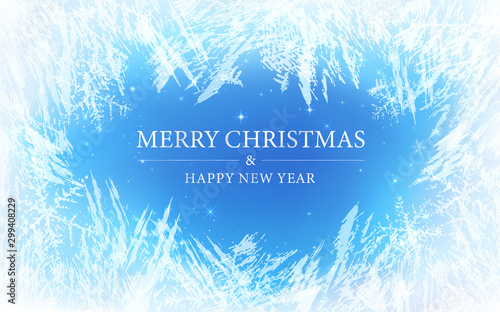 Photo Frost pattern background (Merry Christmas)
