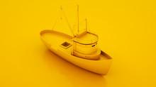 Fishing Boat. Minimal Idea Con...