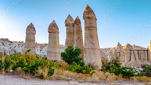 Love valley in Cappadocia at sunset Canvas-taulu
