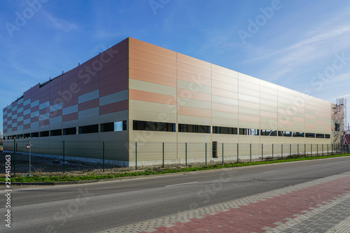 Fototapety, obrazy: facade of new factory building made of thermo insulated aluminium panels