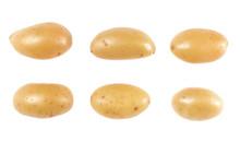 Potatoes Set Isolated Over Whi...