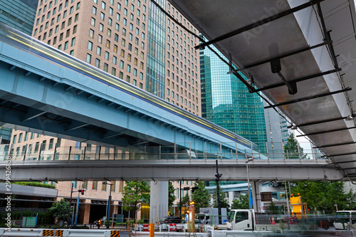 Modern architecture. Elevated Highways and skyscrapers in Tokyo. Tapéta, Fotótapéta