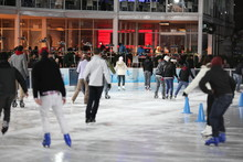 Ice Skating In Bryant Park In ...