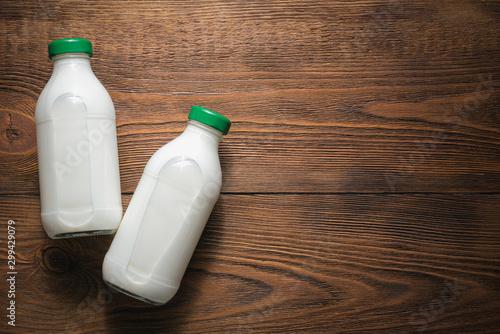 Bottle of milk. Fototapet