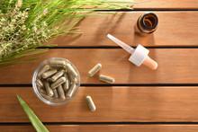 Natural Medicine Capsules On T...