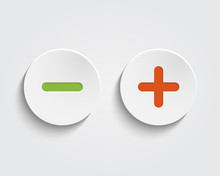 Vector Add, Cancel, Or The Plus And Minus Signs On Buttons