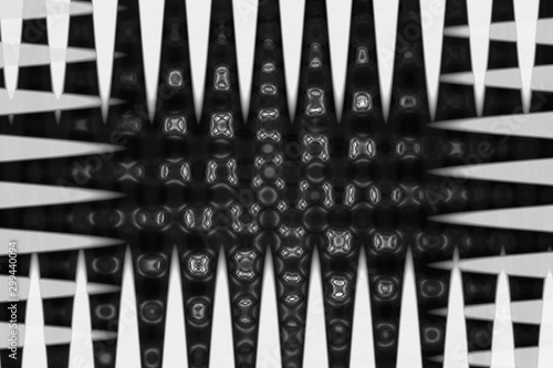 An abstract black and white grunge border background image.