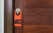 Please Make Up Room Hotel Door...
