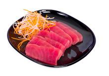 Raw Tuna Fish Isolated On White Background.