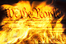 Burning The Constitution Of The US