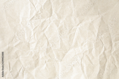 Fotografía  Crumpled brown paper background texture