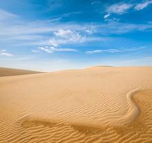 White Sand Dunes On Sunrise, M...