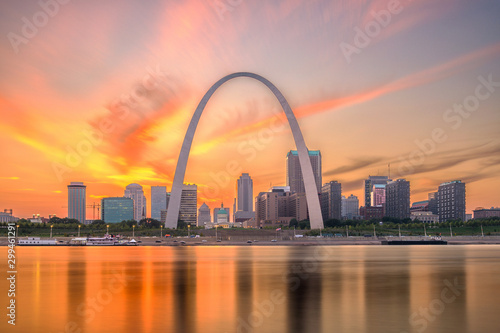 St. Louis, Missouri, USA Skyline Canvas Print
