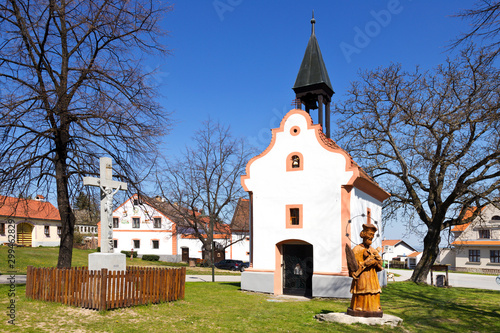 Photo famous Holasovice village, South Bohemia, Czech republic protected by UNESCO