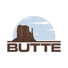 Butte Views In The Desert, Park Outdoor, Wildlife Mountain Nature Rock