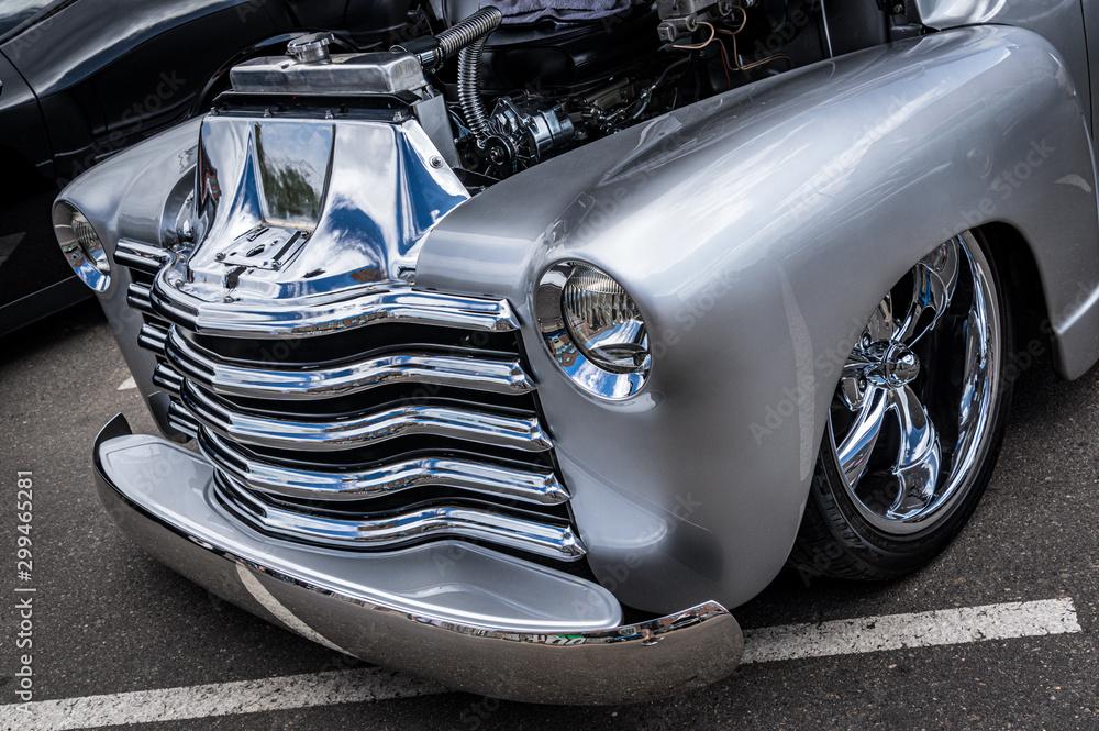 Fototapeta Closeup of a vintage car at a show in Denver Colorado