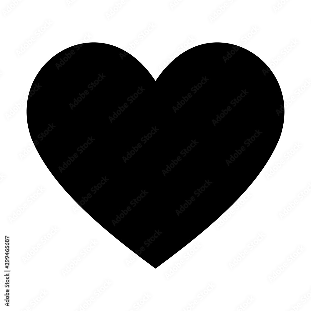 Fototapety, obrazy: heart icon design element. Logo element illustration. Love symbol icon