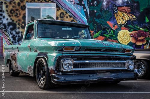 Foto op Aluminium Vintage cars pickup truck at a show in Denver Colorado