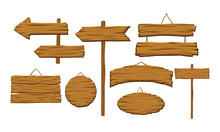 Wooden Indicators Vector Set. ...