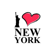 I Love New York Typography Vec...