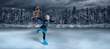 View Of Child  Figure Skater O...