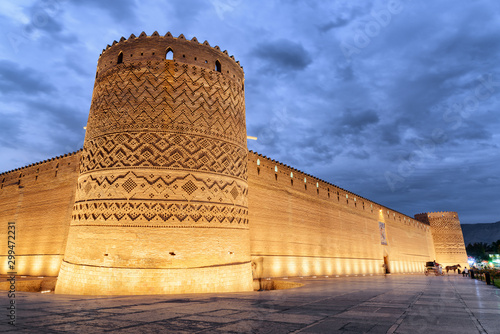 Billede på lærred Gorgeous evening view of the Karim Khan Citadel, Shiraz, Iran
