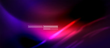 Neon Abstract Waves Background...
