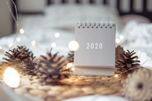 New Year 2020 Calendar With Li...