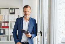 Smart Relaxed Confident Senior Businessman