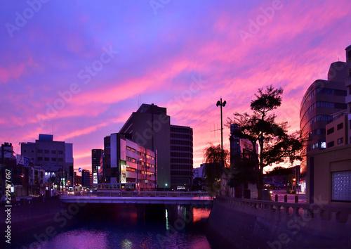 Foto op Canvas Candy roze 長崎夜景