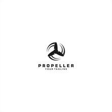 Propeller Logo Template Design Idea