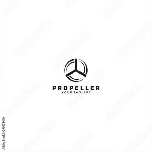 Propeller logo template design idea Wallpaper Mural