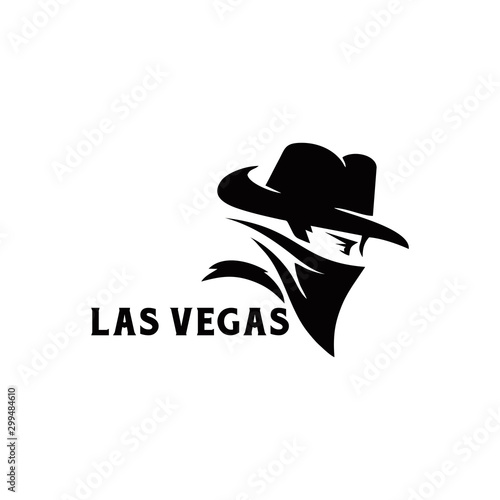 Fotografía  Bandit Cowboy with Scarf Mask illustration