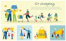 Vector Illustration Shopping C...
