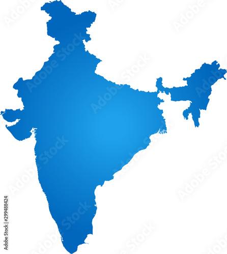 Pinturas sobre lienzo  map of India