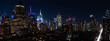 Panoramic night view of Midtown Manhattan and Hell's Kitchen