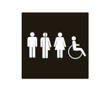 All Gender Restoom Symbols. Male, Female Transgender, Handicap, Restroom Or Toilet Sign, Vector Illustration