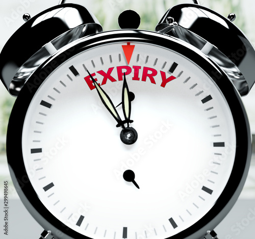 Expiry soon, almost there, in short time - a clock symbolizes a reminder that Ex Tapéta, Fotótapéta