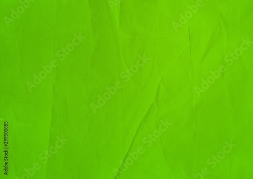 green crumpled paper texture background - 299500885