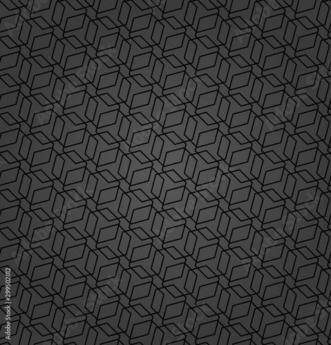 Geometric abstract vector hexagonal dark background. Geometric modern ornament. Seamless modern pattern