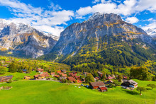 Grindelwald, Switzerland Aeria...