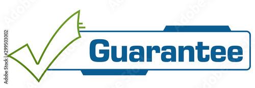 Fotomural Guarantee Green Blue Tick Mark Borders