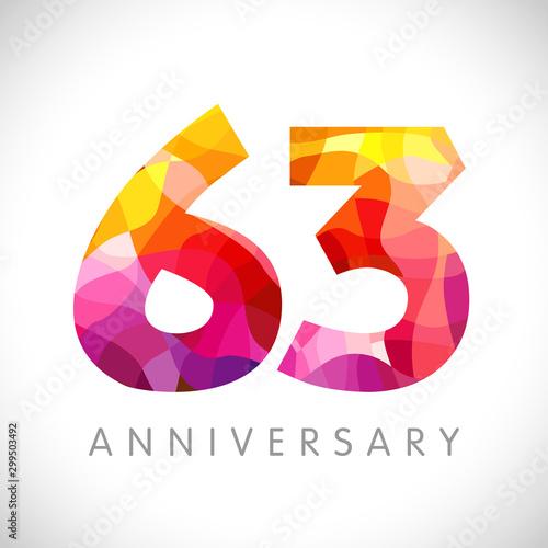 Fotografia  63 rd anniversary numbers