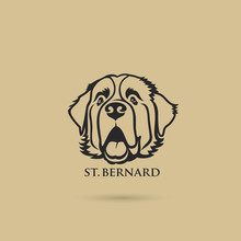 St. Bernard Dog - Isolated Out...