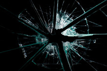 Broken Glass Dark Background