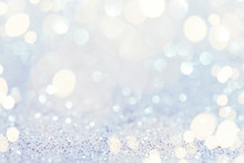 Christmas Abstract Bokeh Background With Lights, Defocused.