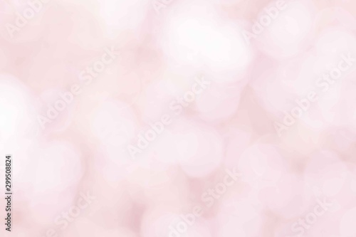 Autocollant pour porte Roses Pastel pink blur bokeh soft glitter light abstract spring background, Pink white effect background natural blurred flower at soft glitter shiny, Red In love season in from leaf and tree for valentine.
